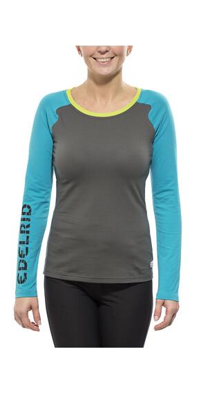 Camisa manga larga Edelrid Misery gris/azul para mujer